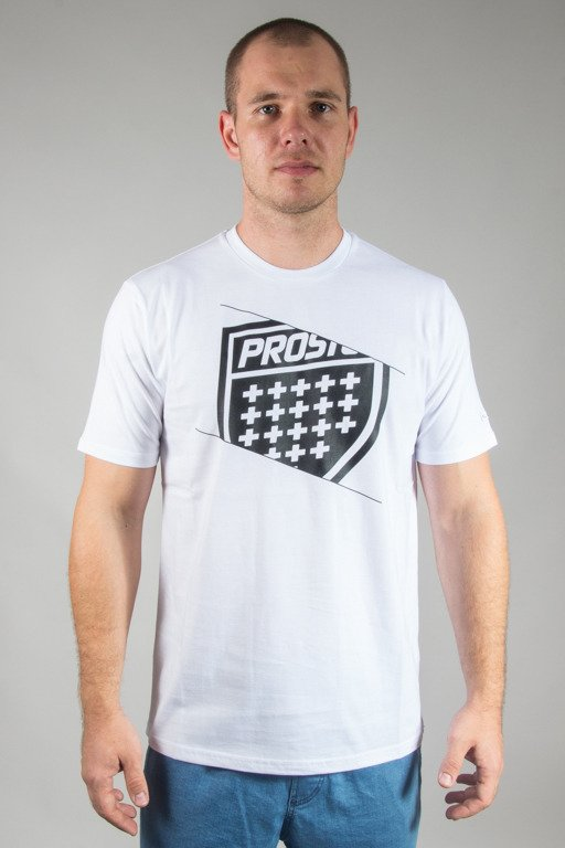 PROSTO T-SHIRT SHIELD EDGE WHITE