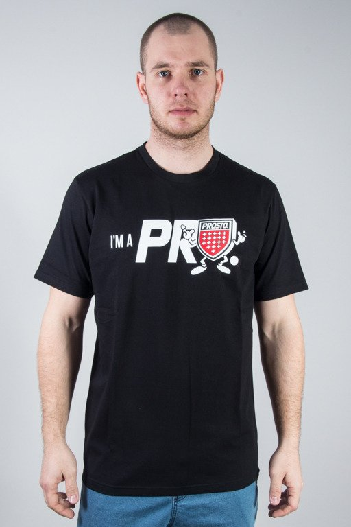 PROSTO T-SHIRT SHIELDMAN BLACK