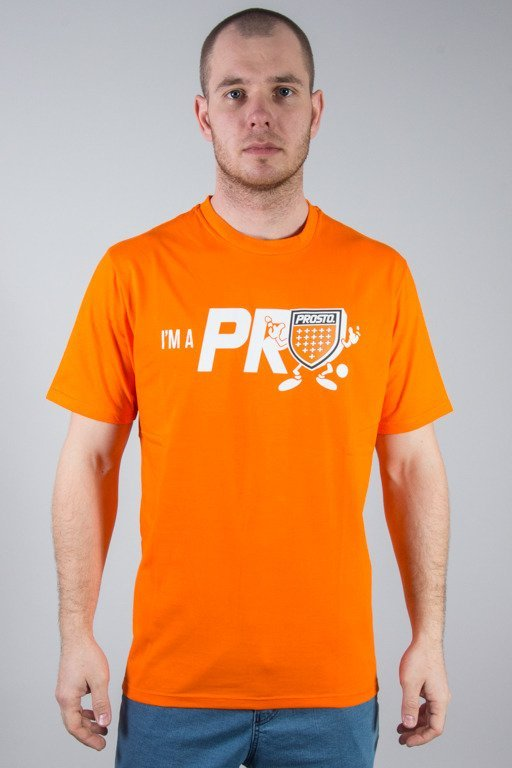 PROSTO T-SHIRT SHIELDMAN ORANGE