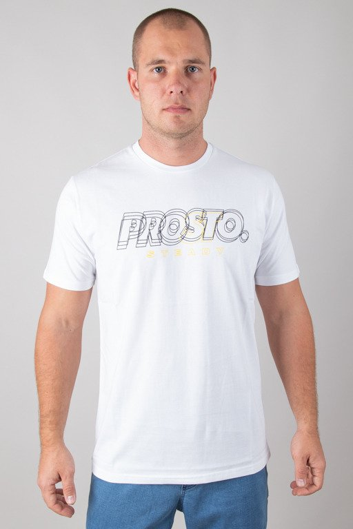 PROSTO T-SHIRT SQUAT WHITE
