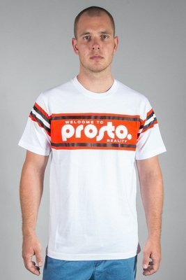 PROSTO T-SHIRT SUPPORT STRIPES WHITE