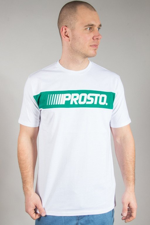 PROSTO T-SHIRT TRAIL WHITE
