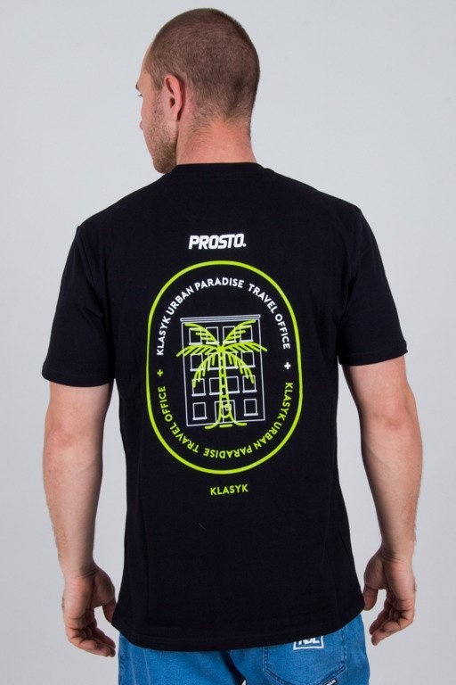 PROSTO T-SHIRT TRAVEL BLACK