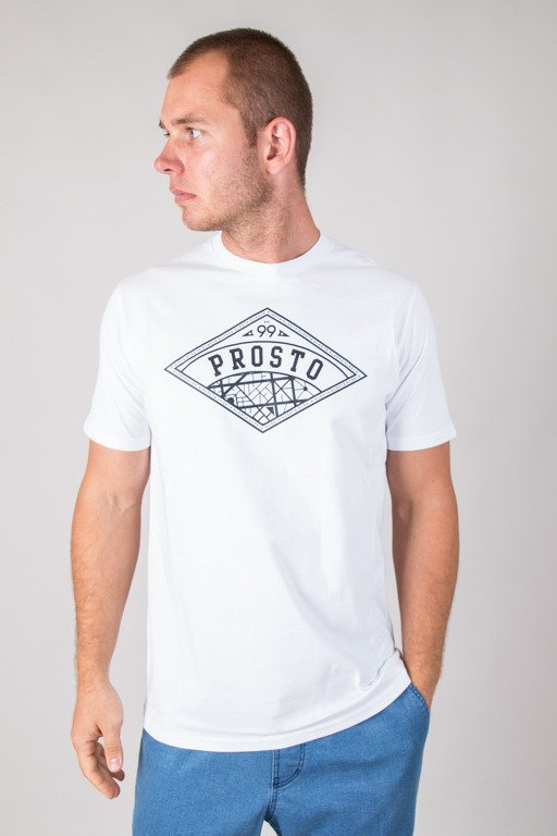 PROSTO T-SHIRT VIEW WHITE