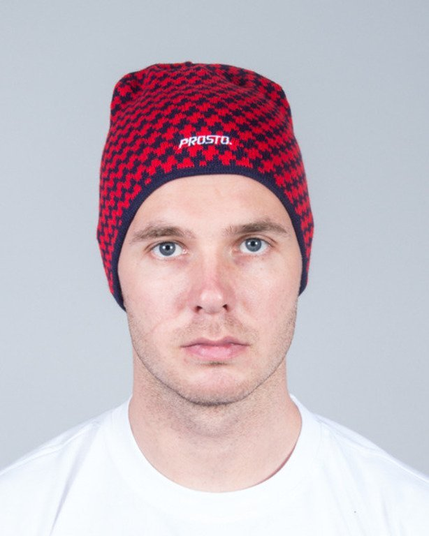 PROSTO WINTER CAP CROSS RED