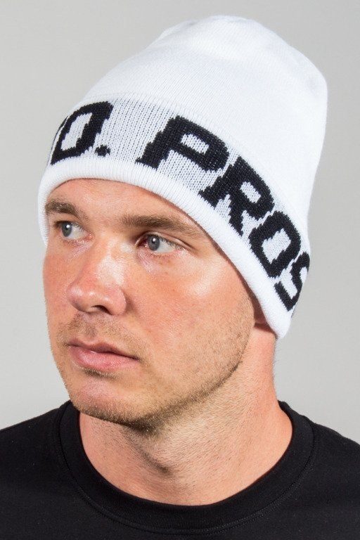 PROSTO WINTER CAP WRAPS LOGO WHITE