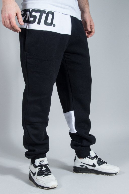 PRSOTO SWEATPANTS PATCH QUASI BLACK