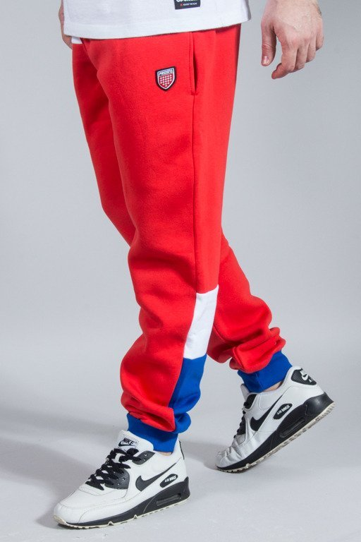 PRSOTO SWEATPANTS PATCH QUASI RED