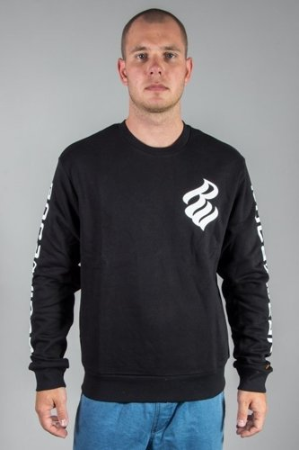 ROCAWEAR CREWNECK SMALL LOGO BLACK