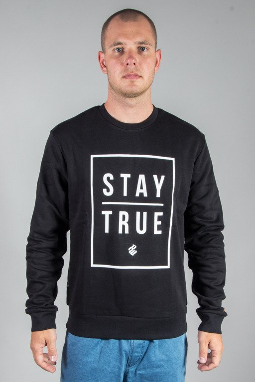 ROCAWEAR CREWNECK STAY TRUE BLACK