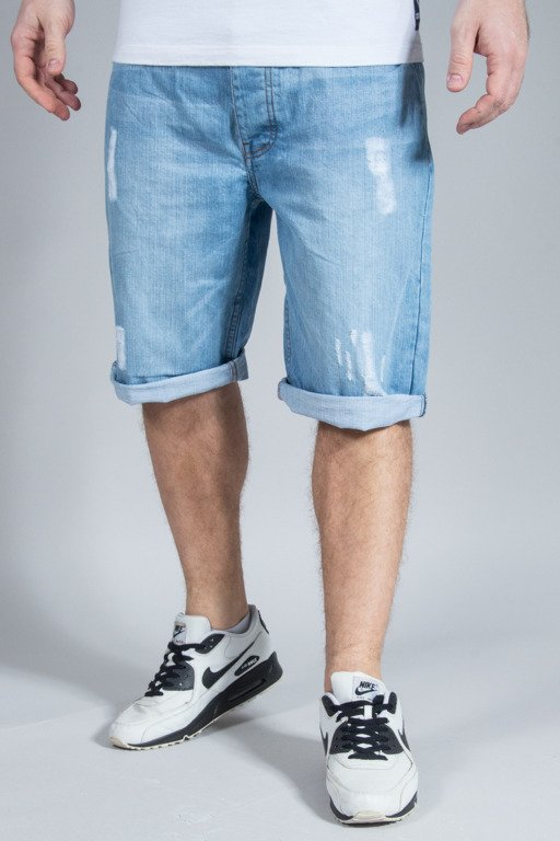 ROCAWEAR SHORTS JEANS DENIM RELAXED LIGHT WASH