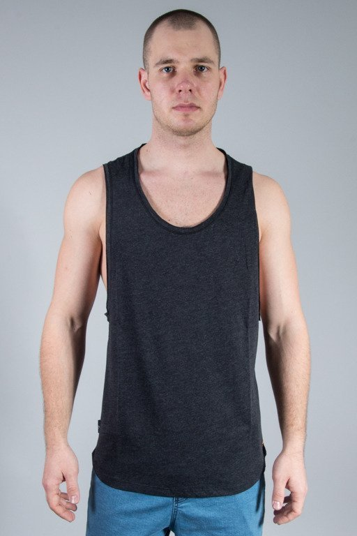 ROCAWEAR TANK TOP BASIC BLACK-MELANGE