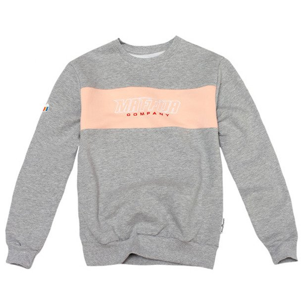 SB MAFFIJA CREWNECK WOMAN BUNDLED UP GREY