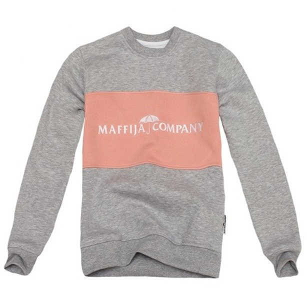 SB MAFFIJA CREWNECK WOMAN STRIPE GREY