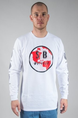 SB MAFFIJA LONGSLEEVE GLOBAL EXPANSION WHITE