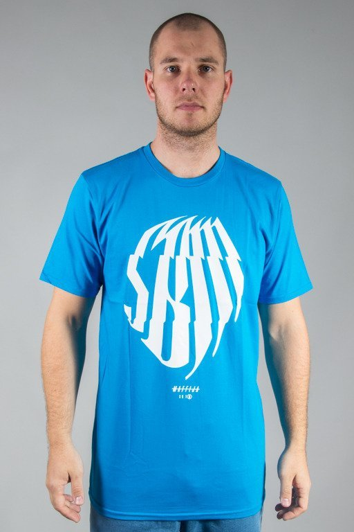SB MAFFIJA T-SHIRT GLITCHER BLUE