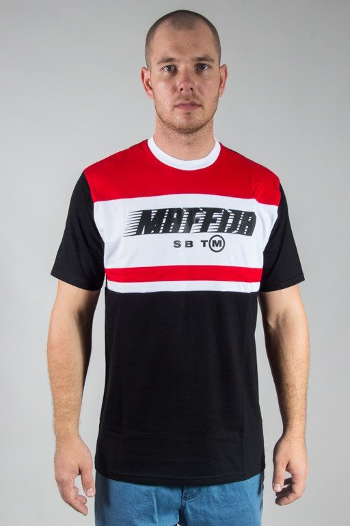 SB MAFFIJA T-SHIRT SENDING BLACK-RED