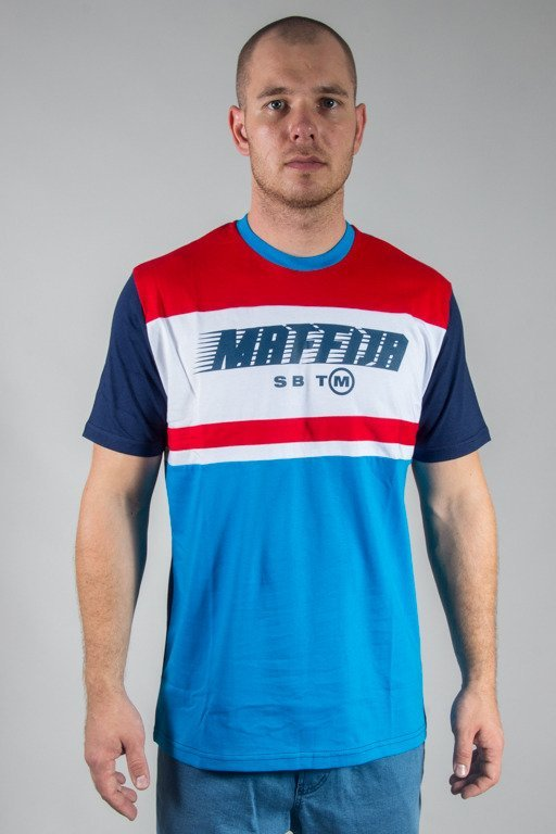 SB MAFFIJA T-SHIRT SENDING BLUE-RED