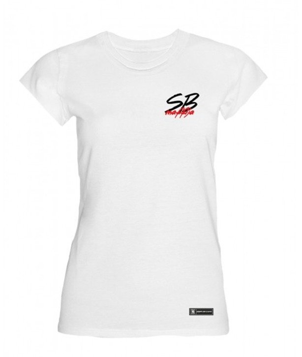 SB MAFFIJA T-SHIRT WOMAN TINY LOGO WHITE