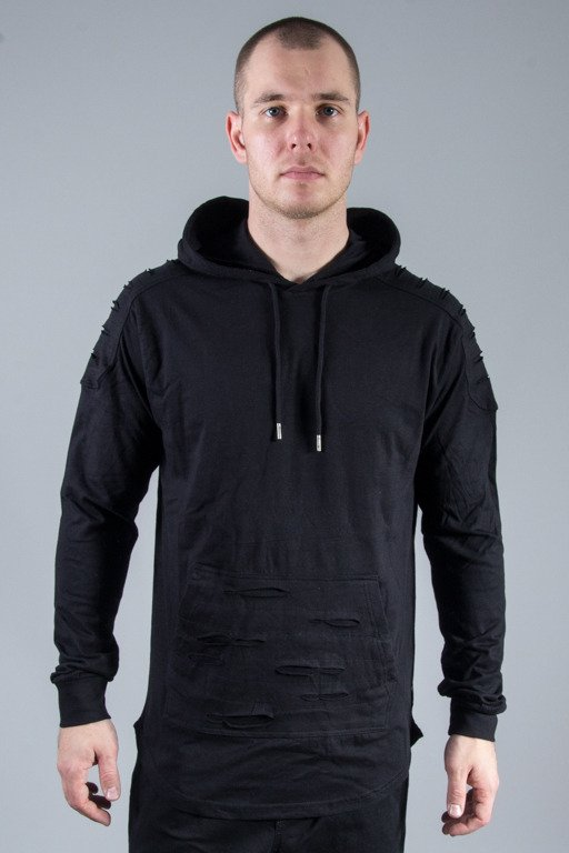 SOUTHPOLE HOODIE RIPPED GROUP BLACK