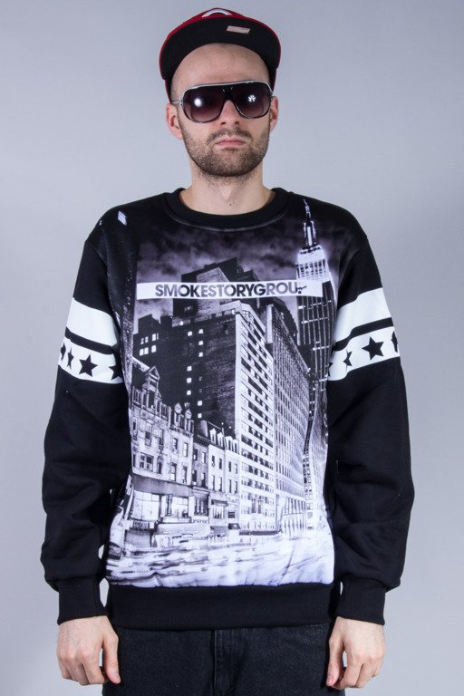 SSG BLUZA BEZ KAPTURA BLACK CITY BLACK
