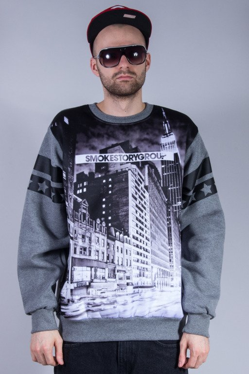 SSG BLUZA BEZ KAPTURA BLACK CITY GREY
