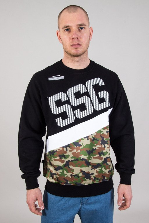 SSG CREWNECK BOTTOM MORO BLACK