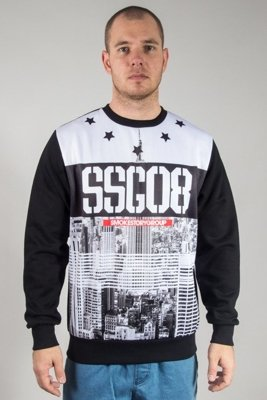 SSG CREWNECK CITY 08 STRAS BLACK