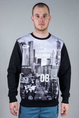 SSG CREWNECK CITY BW BLACK