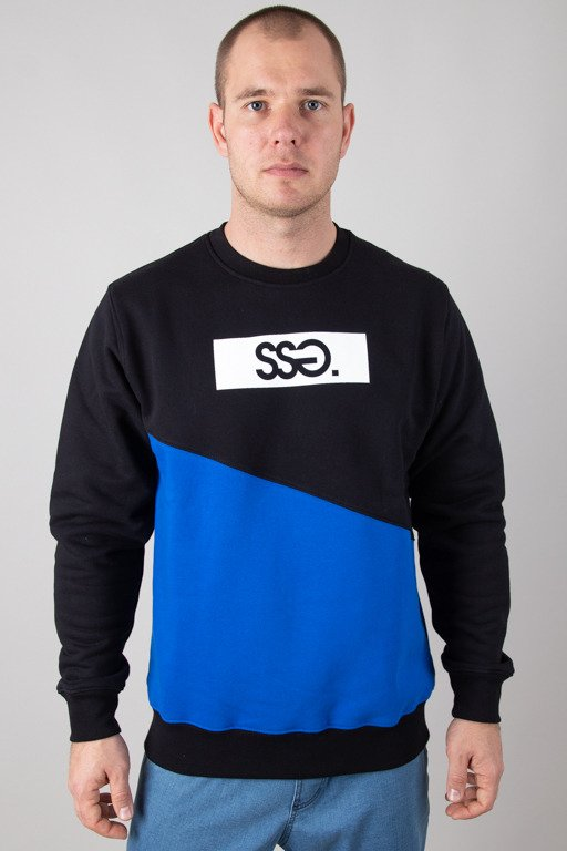 SSG CREWNECK CUT FRONT BACK BLACK-BLUE