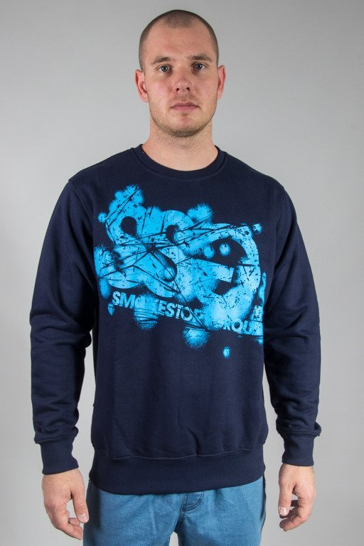 SSG CREWNECK DAMAGE SSG NAVY