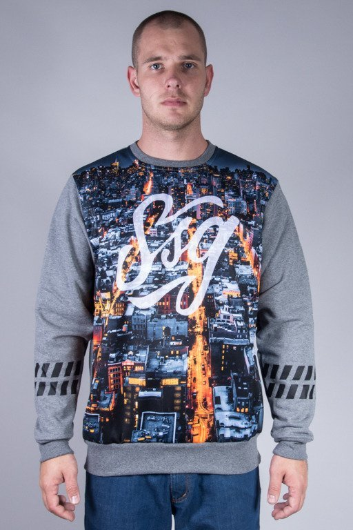SSG CREWNECK DARK CITY TAG GREY