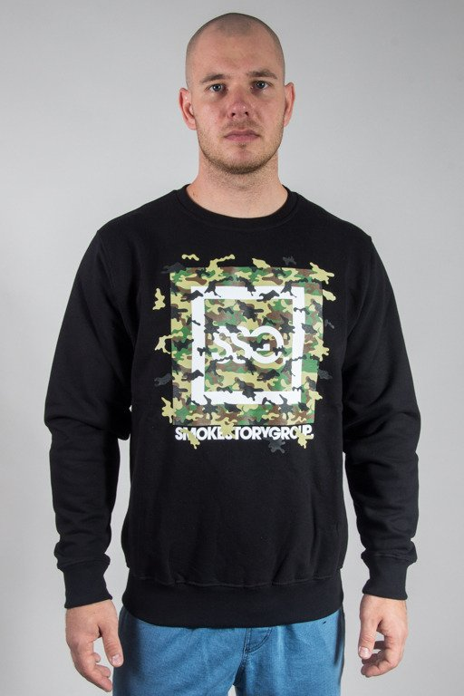 SSG CREWNECK FLY MORO BLACK