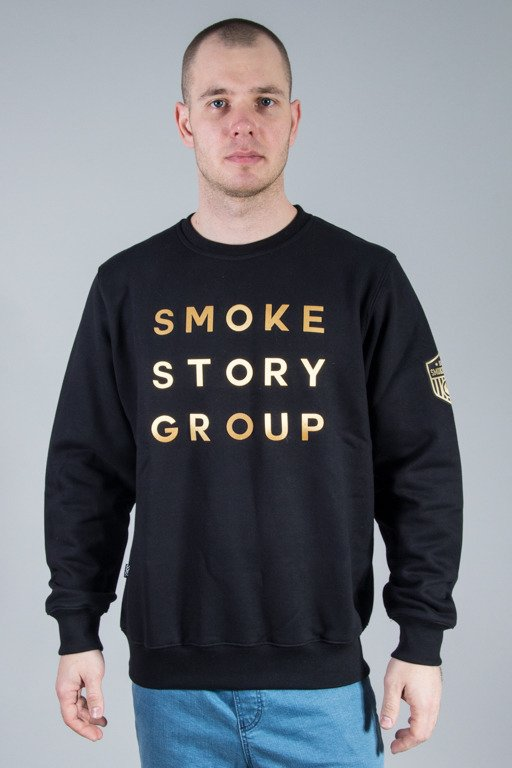 SSG CREWNECK GOLD LETTER BLACK