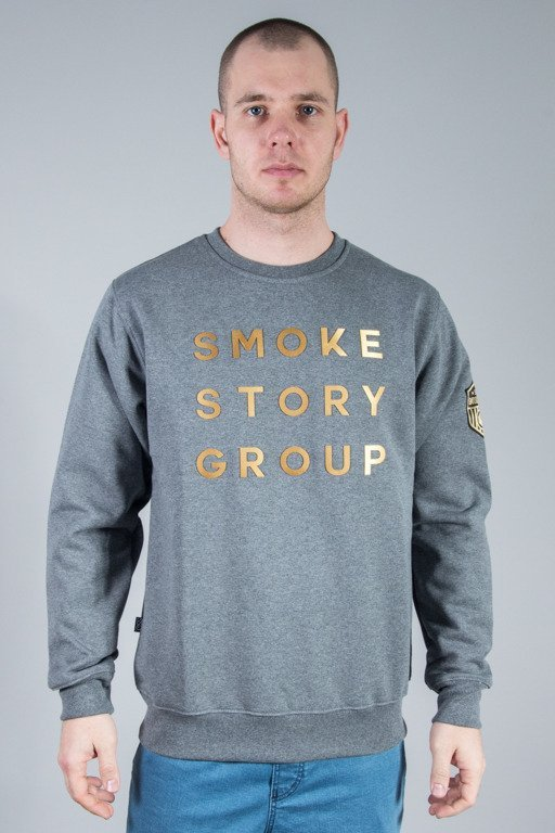 SSG CREWNECK GOLD LETTERS GREY