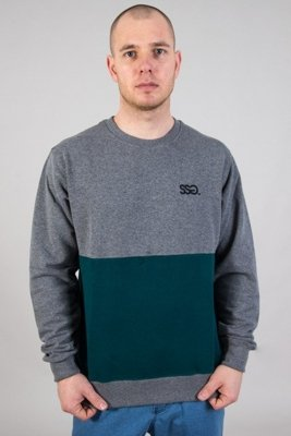 SSG CREWNECK LIGHT HALF GREY-GREEN