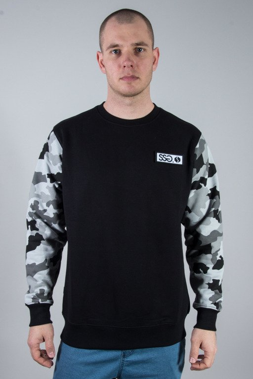 SSG CREWNECK MORO SLEEVES BLACK GREY CAMO