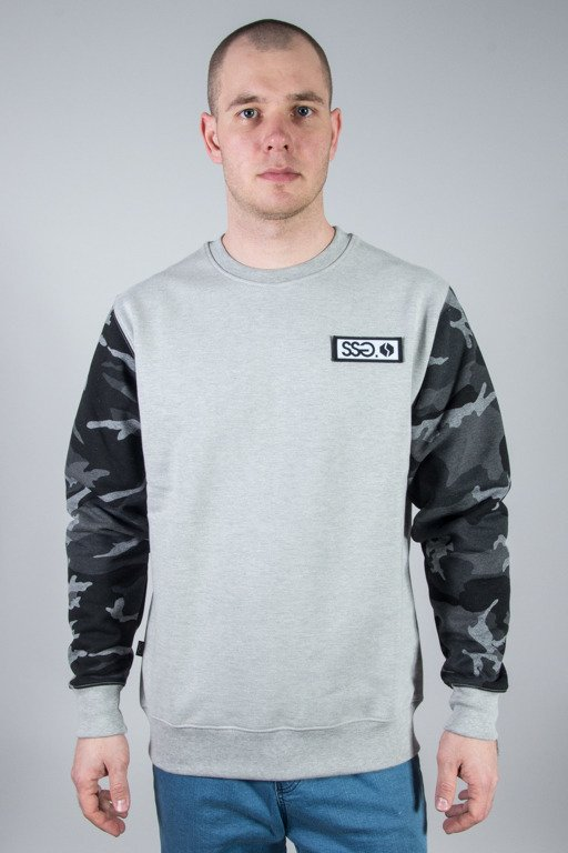 SSG CREWNECK MORO SLEEVES MELANGE DARK GREY CAMO