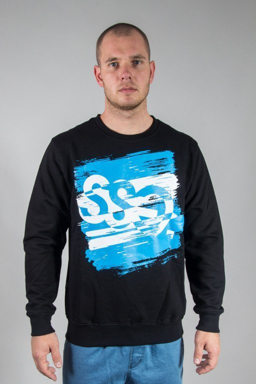 SSG CREWNECK PAINT TAG BLACK