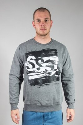SSG CREWNECK PAINT TAG GREY