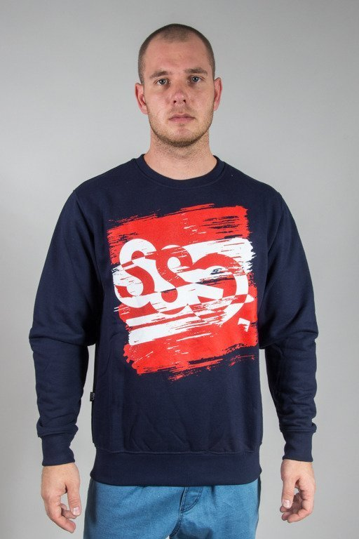 SSG CREWNECK PAINT TAG NAVY