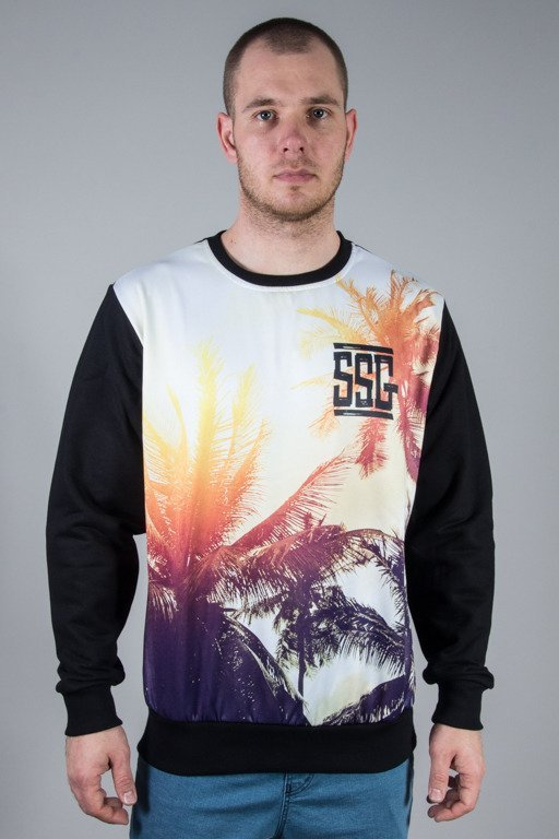 SSG CREWNECK PALMS BLACK