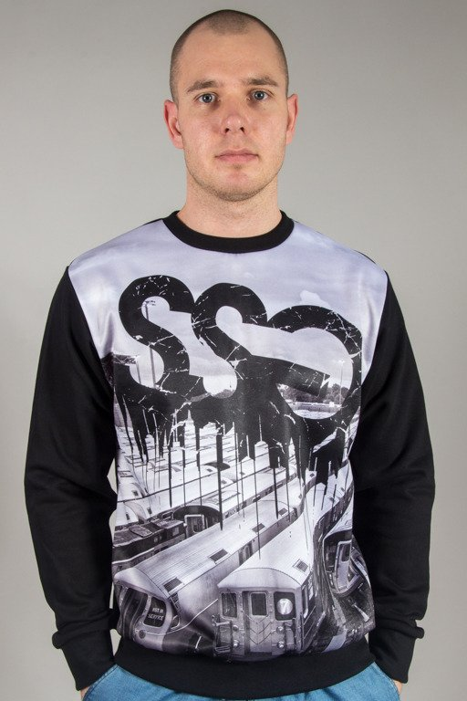 SSG CREWNECK TRAINS BLACK