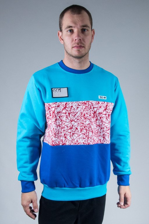 SSG CREWNECK TRIPLE COLOR BLUE