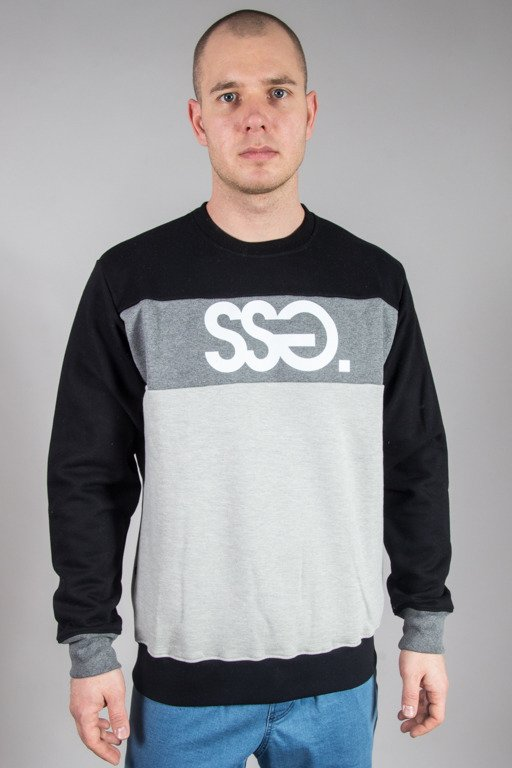 SSG CREWNECK TRIPLE COLORS BLACK-GREY