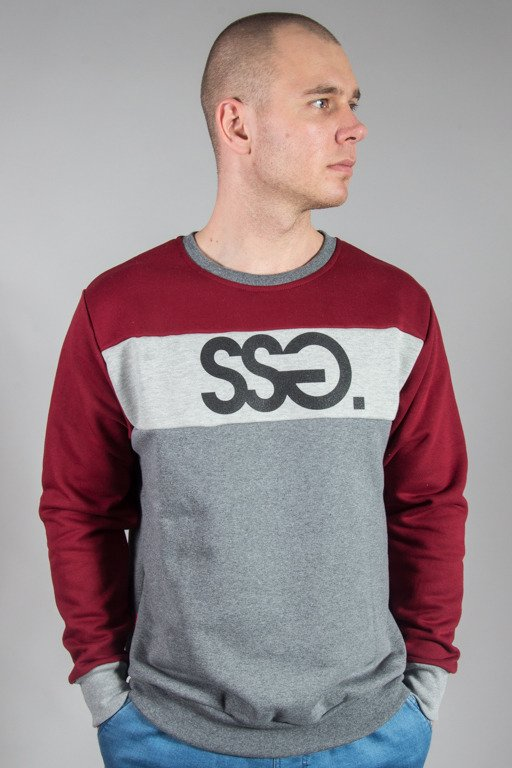 SSG CREWNECK TRIPLE COLORS BRICK-MELNGE