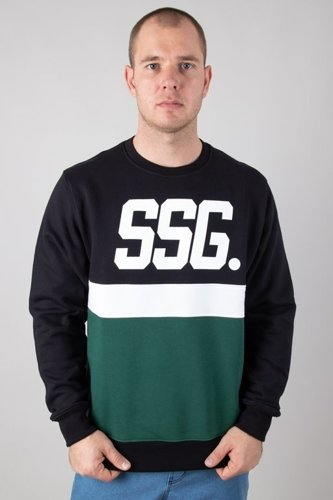 SSG CREWNECK TRIPLE LINE BLACK-GREEN