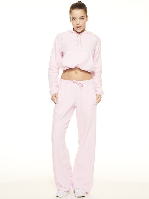 SSG GIRLS FROTTE LOOSE PANTS PINK