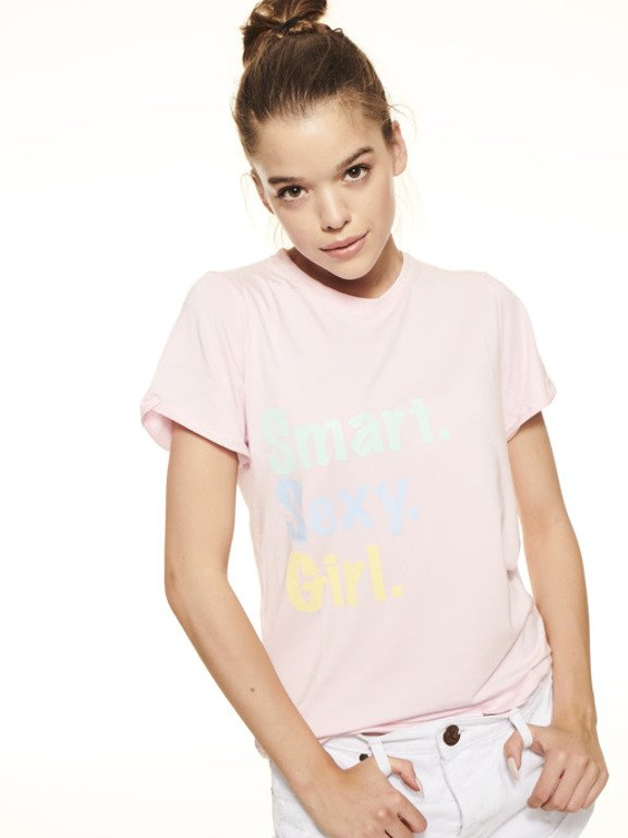 SSG GIRLS ROLL UP T-SHIRT CLASSIC COLORS PINK