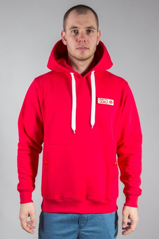 SSG HOODIE LOGO COLORS RED
